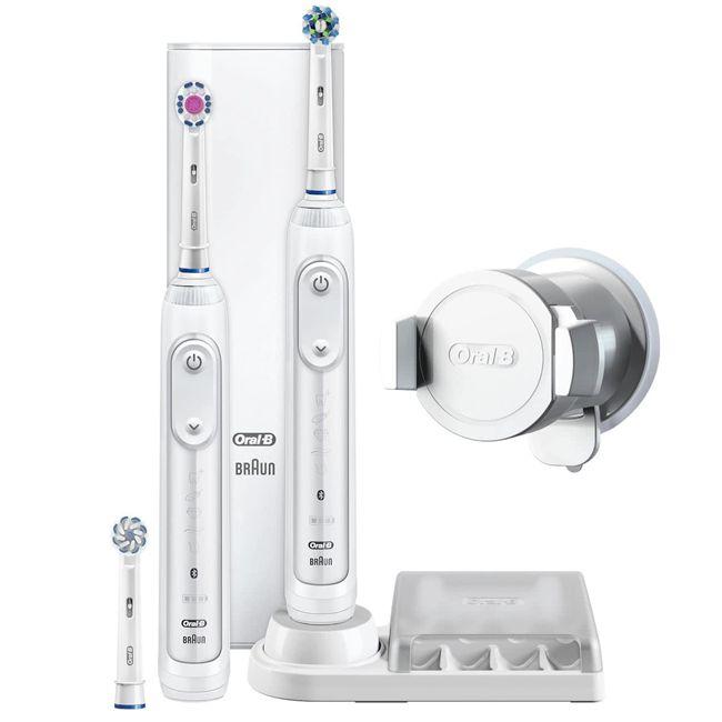 Oral-B GENIUS 8900 White Cross Action Bluetooth elektrische tandenborstel  Description: Oral-B GENIUS 8900 White Cross Action Bluetooth is de nieuwste Smart tandenborstel van Oral-B  Price: 127.95  Meer informatie  #tandenborstel #philps #braun #tand #poetsen