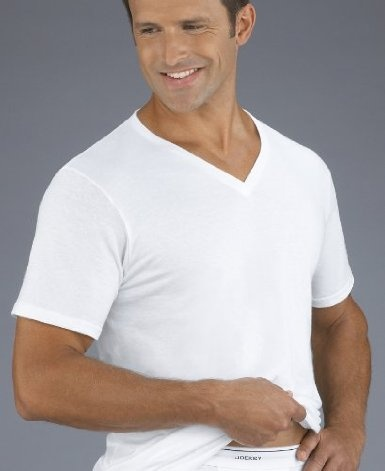 Classic Tag-Free V-neck T-Shirt - 6 Pack Value! $45.00
