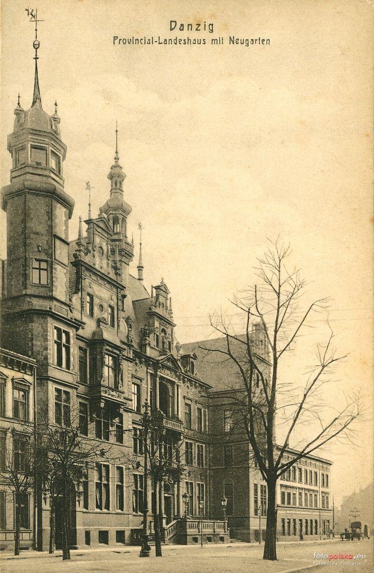 Sejm Wolnego Miasta Gdańska (Zarząd Prowincji) (Landeshaus), Gdańsk - 1908 rok, stare zdjęcia