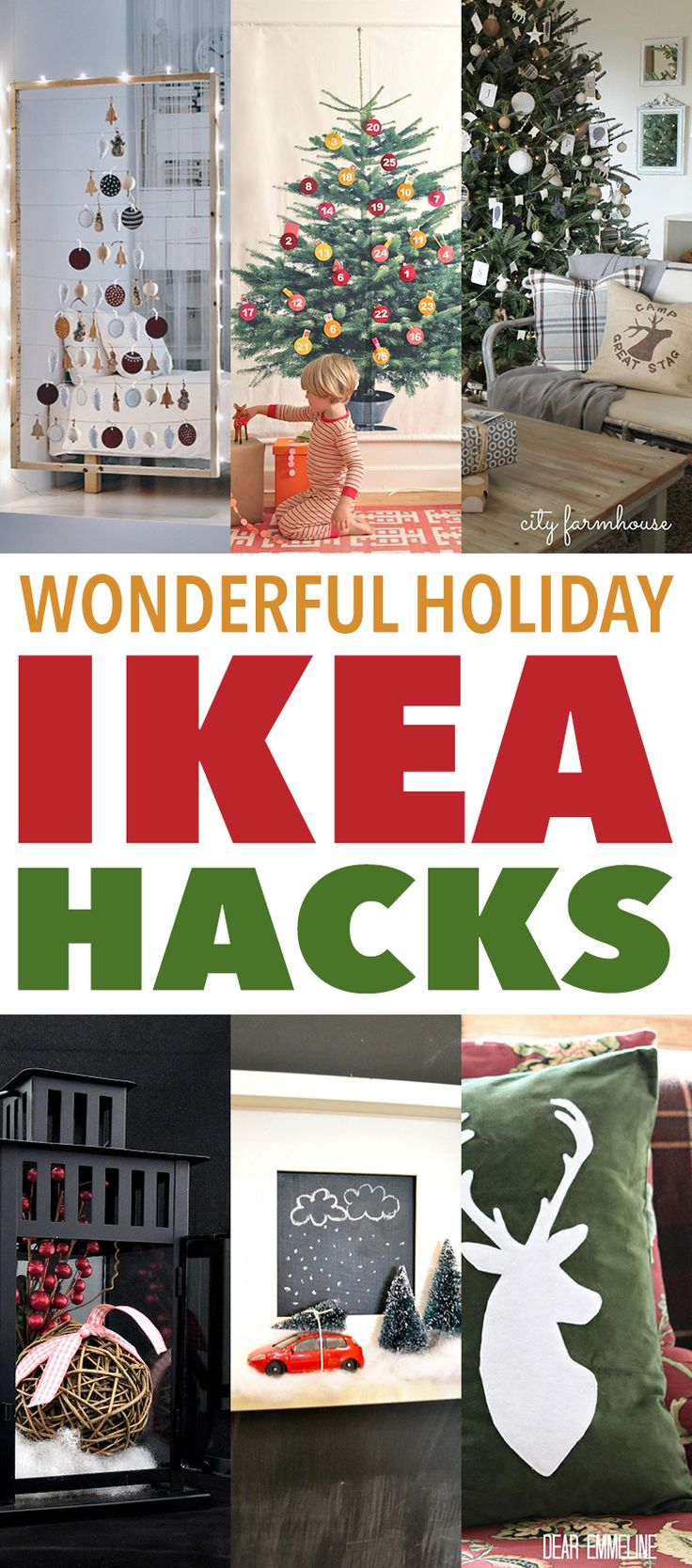 It's starting to feel like the Holidays!  The decorating has started and some of you have all ready begun the Holiday Shopping!  So now is the time to share some Wonderful Holiday IKEA Hacks that are filled with wonderment!  There is a GIANT Advent Calendar…A Wall Ledge Christmas Tree…Lanterns decorated with Cheer and so much …