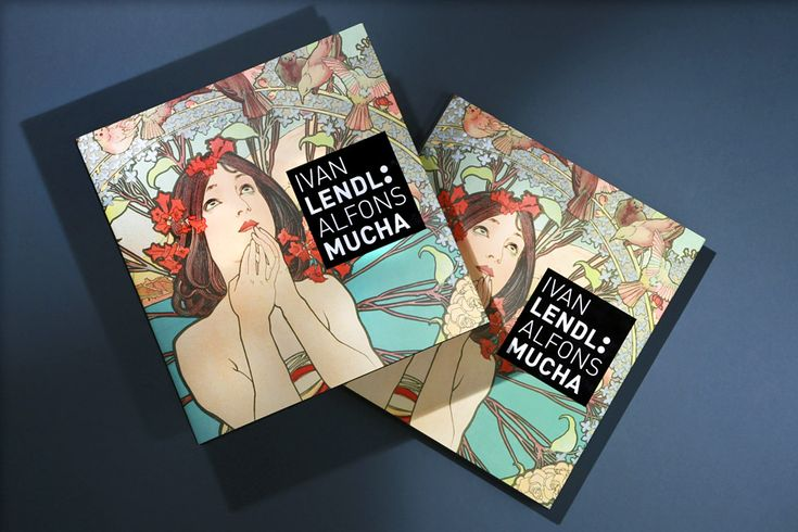Book Ivan Lendl: Mucha - Graphic design by Dynamo design, photo of printed realization by w:u studio