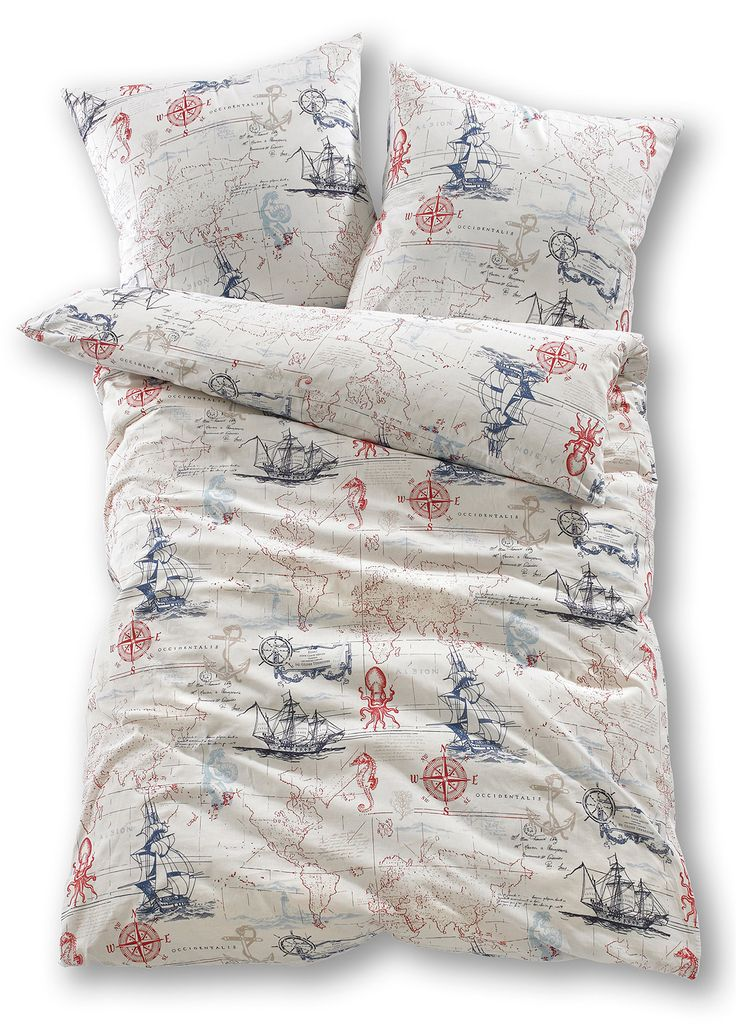 Biancheria da letto «Nautical», Linone Blu - bpc living è ordinabile nello shop on-line di bonprix.it da ? 12,99. Biancheria stampata con motivi marinari ...