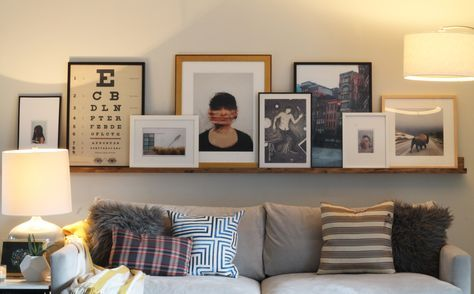 Trendy living room art above couch layout Ideas