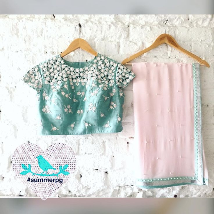 Cutwork Blouse with Saree cutwork sequins embroidery saree indianfashion summerpg 20 November 2016