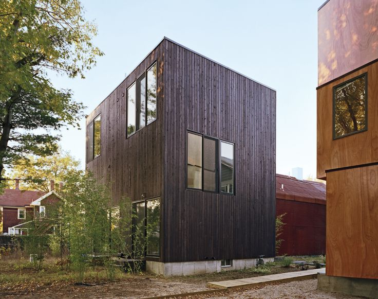 69 best wood siding images on pinterest residential for Modern house siding solutions