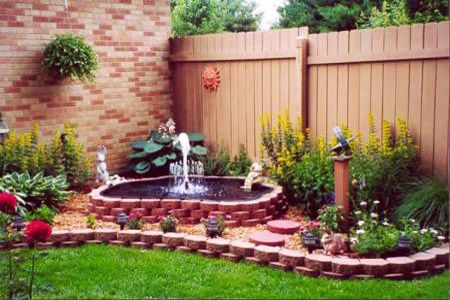 to feng shui house exterior and garden design with a fountain