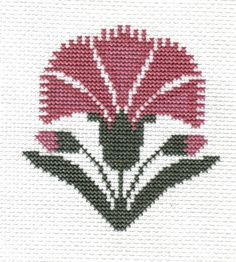 finished completed cross stitch PRAIRIE SCHOOLER carnation PREORDER