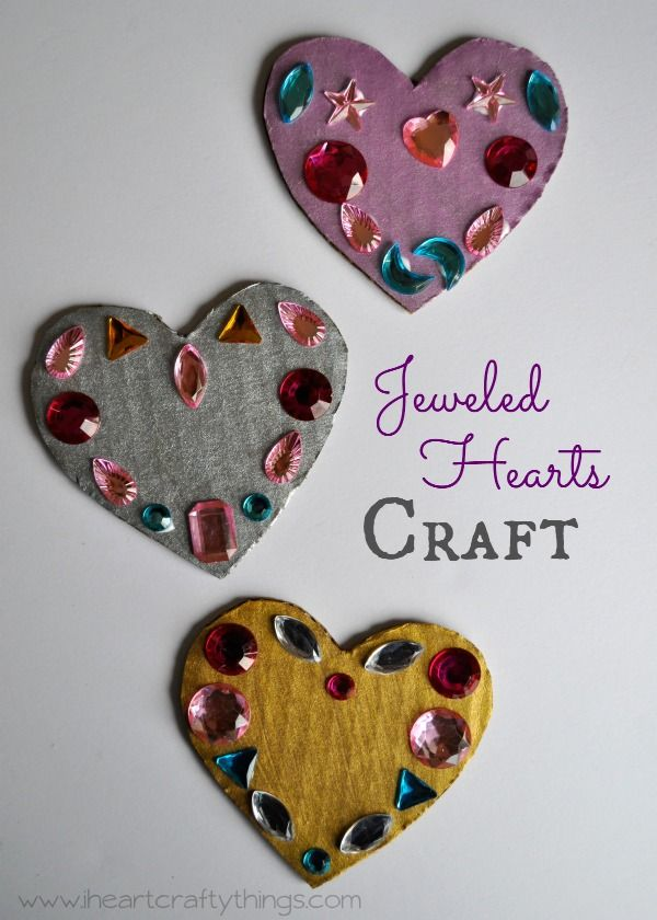Jeweled Symmetry Heart Craft For Kids I Heart Crafty Things