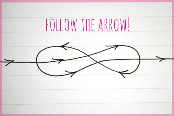 Take a wire follow the arrows and you make your own infinity ring !