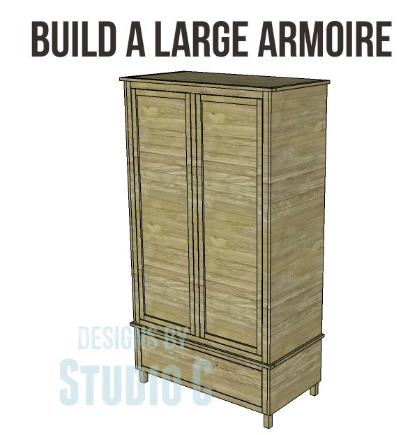 Free Diy Woodworking Plans To Build A Large Armoire An Armoire Is The Perfect Storage For So Many Areas Of The Home It Can Be Used