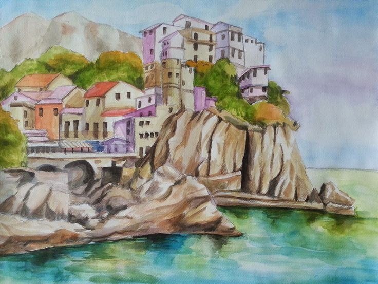 Youngok's Happy Arts: water color - my first Landscape :)