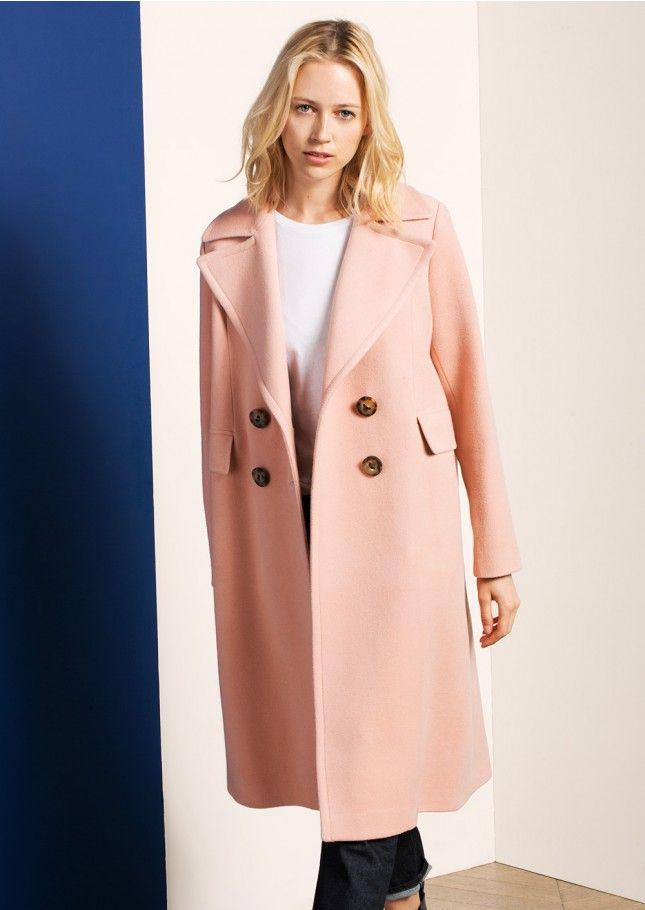 Manteau en laine rose - femme - tara jarmon 1