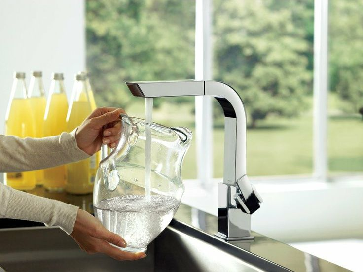 Moen One Handle High Arc Pullout Kitchen Faucet (Chrome) In Touch On Kitchen  Sink Faucets.