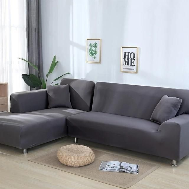Couch Covers Sofa Slipcovers Dark Grey 4 Seater 4seater 235 300cm Chehly Na Divan Razdelenie Gostinoj Na Zony I Staryj Divan