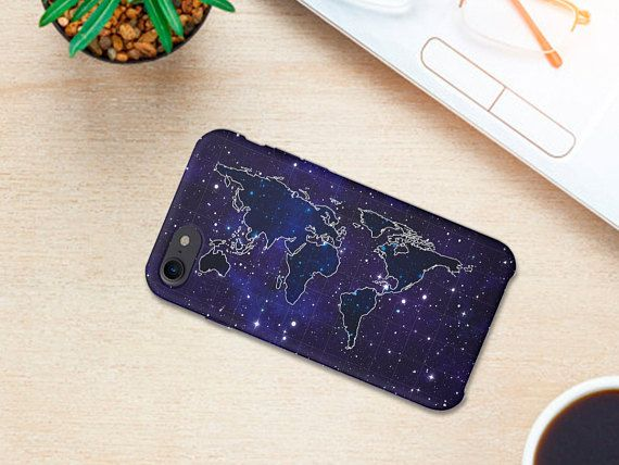 Earth Continenets  Mobile Case Art Star map Collage design for