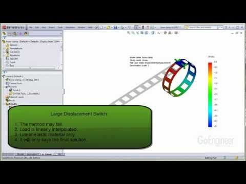 SOLIDWORKS Simulation - Large Displacement Case 1 - YouTube
