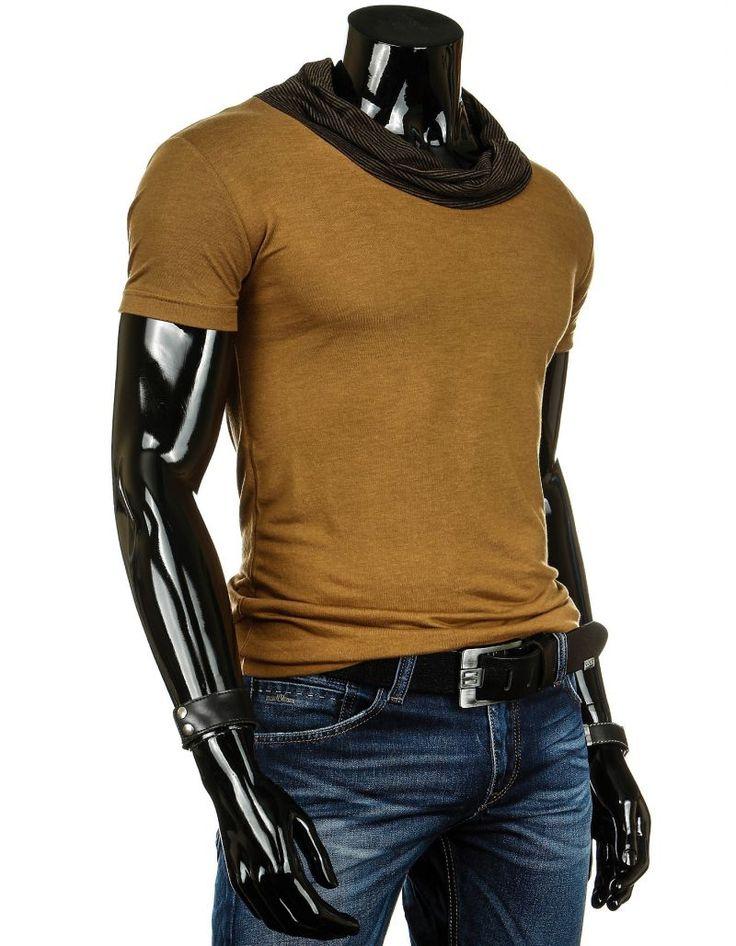 Idealny na jesień kamelowy t-shirt http://dstreet.pl/product-pol-3244-T-shirt-rx0820-.html #kamelowy #t-shirt #dstreet