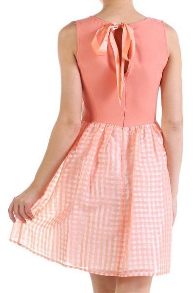 *** Easter Dress *** Fancy event dress with flared hem line and low v-neckline. Lined.