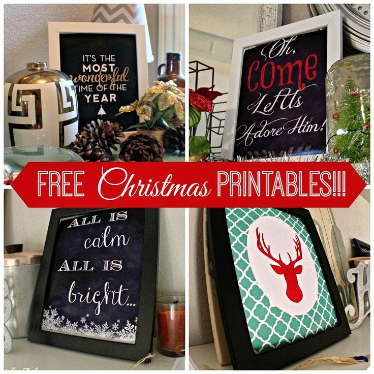 Free Christmas Printables Up the Wazoo! Plus some fun Christmas home inspiration.