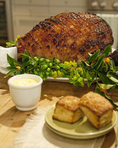 Mustard-Maple Glazed Ham