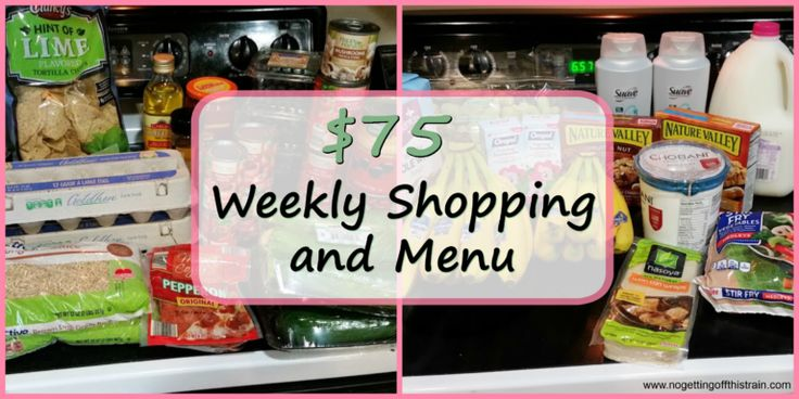 Want to know what a family of 3 eats for $75 a week? Check back every Monday for a full grocery list and menu! Week of: 1-2-17. www.nogettingoffthistrain.com