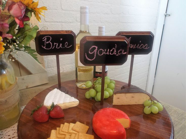 Set of 3 Small Chalkboard Signs Stands Table Numbers Buffet Markers Wedding Decor by TwistedRDesign2 on Etsy https://www.etsy.com/listing/487629030/set-of-3-small-chalkboard-signs-stands