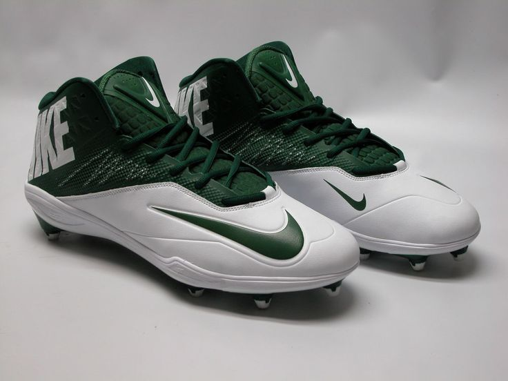 NWOB Nike Men's Zoom Elite Football Cleats Sz 14 603369 131 Green/White