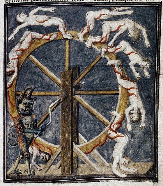 Devil--wheel breaking souls MS. Douce 134 MRM