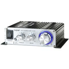 Small Amp to power outside speakers.  Could be paired with Chromecast Audio