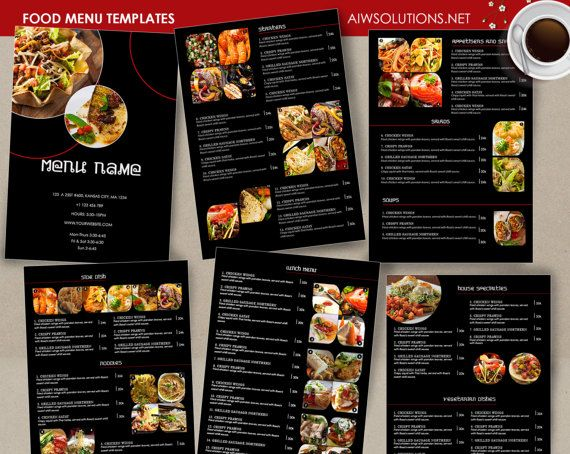 Food Menu template Cocktail Menu Restaurant menu Thai menu
