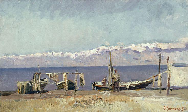 Vecheslav Zagonev: Fisherman of Issyk-Kul Lake (1954)