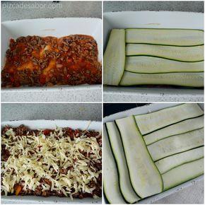 Lasaña de calabacita (sin pasta, sin carbohidratos, sin gluten) www.pizcadesabor.com                                                                                                                                                                                 Más