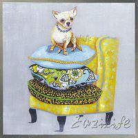 Собака на Диван живопись Маслом На Холсте Настенные Панно Картины для Гостиной Wall Art plattle нож современной абстрактной ручной окрашенные