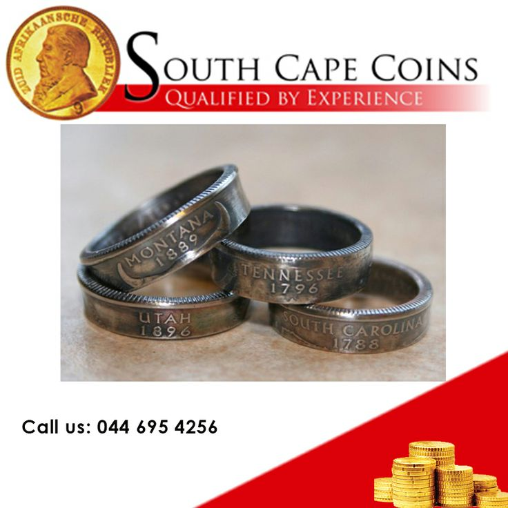 What to do with old coins that are not suitable for investing? Craftsman creates rings from old coins and gives coin collectors the opportunity to transform their old coins into unique rings. Coins' individual characteristics, including the state name, iconic image, and even the grooves of the quarter, morph into a clever piece of finger candy without losing their identity and panache.   #coins #oldcoins #projects