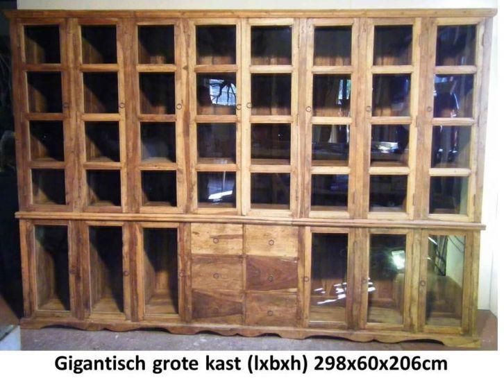 Sheesham houten kast (buddha4all.nl) (boven en onder 60cm diep => 3,6 kuub inhoud !!)