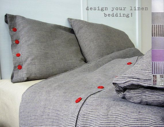 Kids linen bedding - Junior Single- children linens, Eco-friendly, personalized linen bed set, on Etsy, $155.00