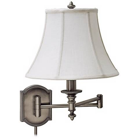 House of Troy Decorative Silver Swing Arm Wall Lamp