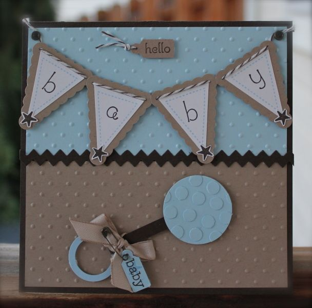 Carte Rattle bébé