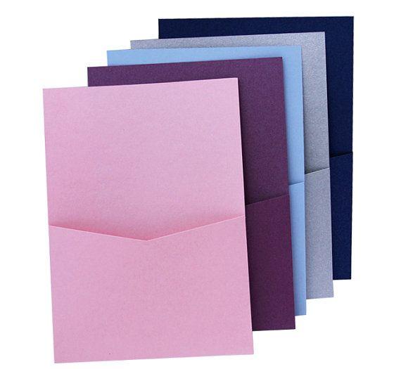 5 u0026quot  x 7 u0026quot  pocket fold invitation holder  quantity of 10