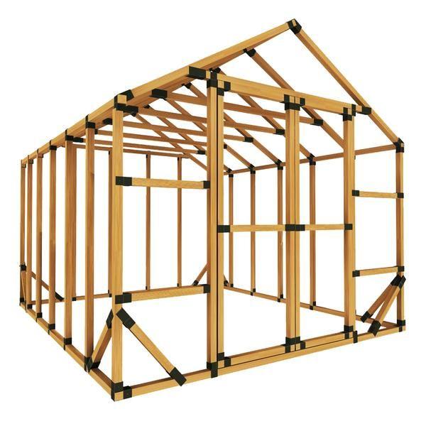 10x12 Standard Storage Shed Kit In 2020 Shed Frame Storage Shed Kits Greenhouse Kit