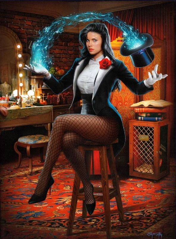 ZATANNA PAINTING on canvas by GENNADIY KOUFAY Comic Art