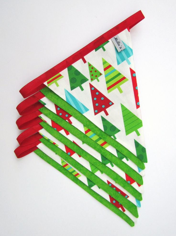 Gorgeous, colourful Christmas Bunting!