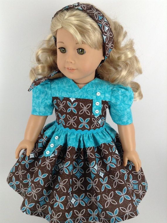 American Girl 18-inch Doll Clothes 1940's Dress by HFDollBoutique