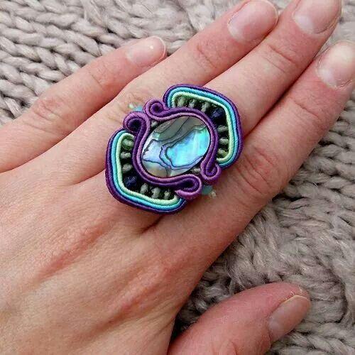 beautiful soutache ring