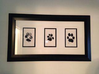dog prints in frame