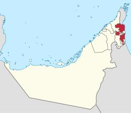 Fujaira – LocalizzazioneAbu Dhabi ( Abū Zaby )  · Ajman ( Ajman )  · Dubai ( Dubai )  · Fujaira ( Fujayra )  · Ras al-Khaima (Ra's al-Khayma)  · Sharja ( Sharja )  · Umm al-Qaywayn ( Umm al-Qaywayn )