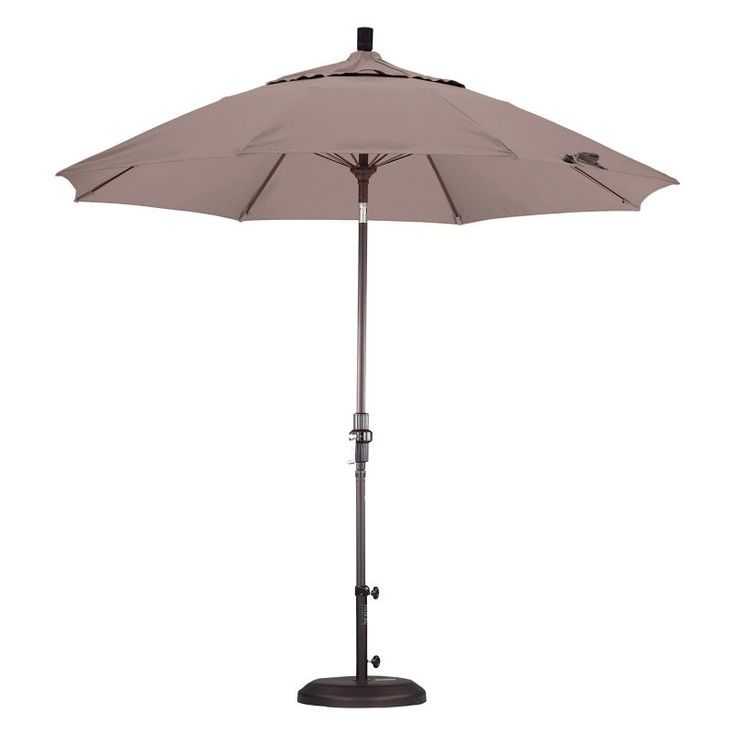 California Umbrella 9 ft. Fiberglass Tilt Olefin Market Umbrella Champagne - GSCUF908117-F67, Durable