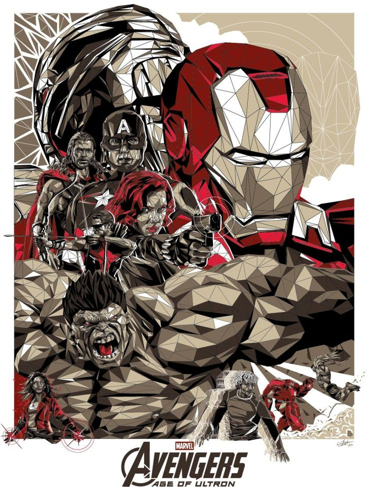 """Avengers - Age of Ultron - Simon Delart ---- The Poster Posse Gets Geeked Up For Marvel's """"Avengers: Age Of Ultron"""" Phase 1 (2015-04)"""