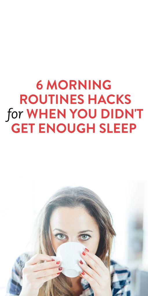 tips for when you didn't get enough sleep