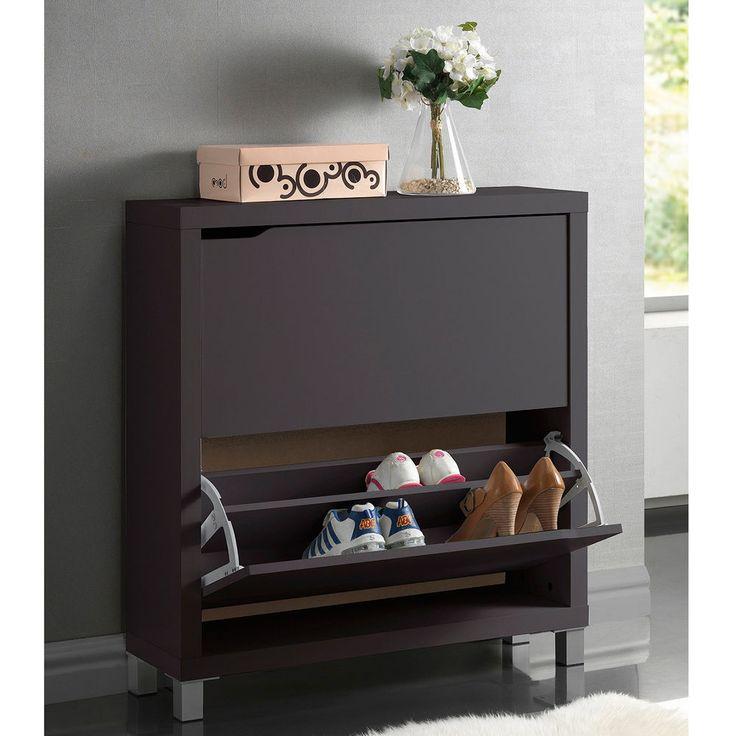Shoe Storage Cabinet Rack Wood Furniture Entryway Shelve Organizer Bench Doors #ShoeStorageCabinet